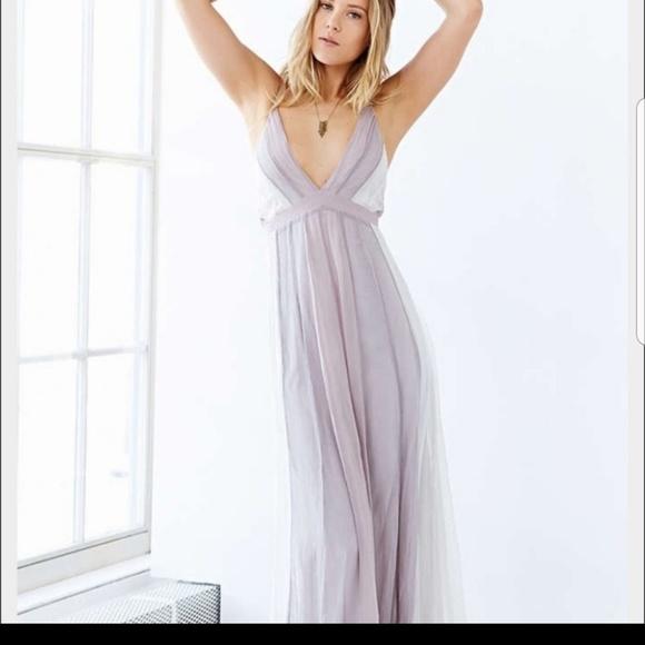 acdd184043ed0 Kimchi Blue Dresses | Urban Outfitters Criss Cross Back Maxi Dress ...